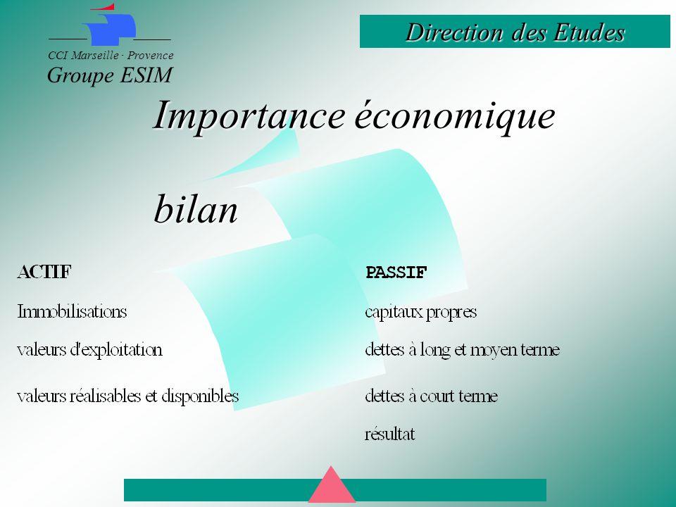 Importance économique bilan