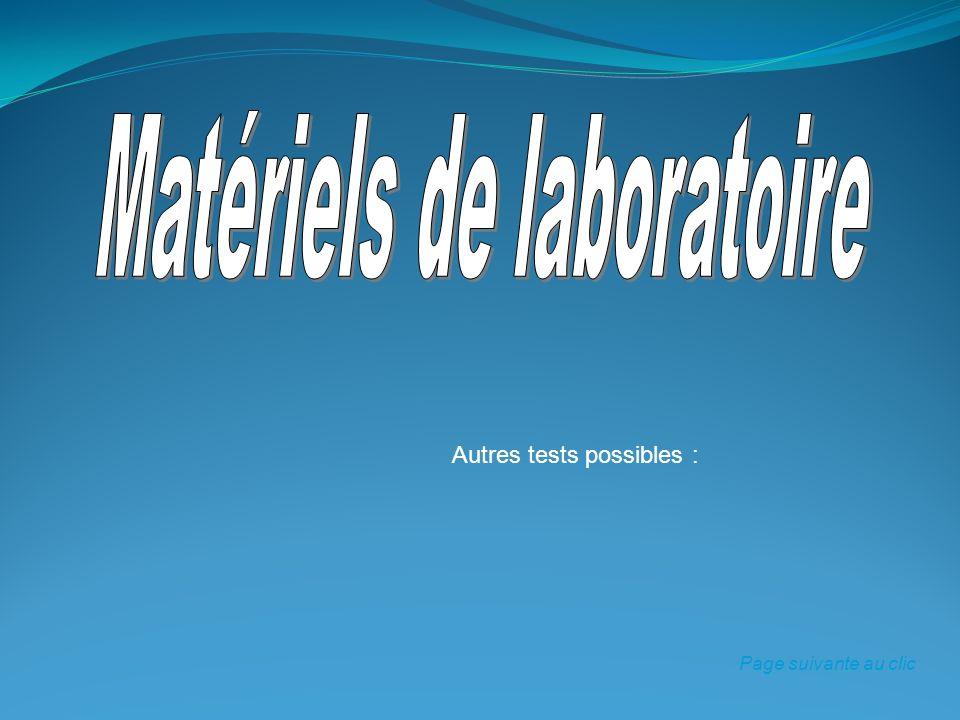 Matériels de laboratoire