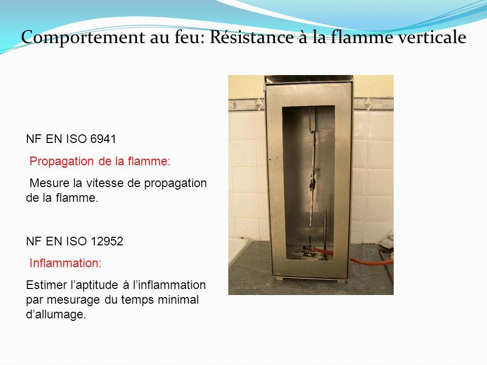 Comportement au feu: Résistance à la flamme verticale