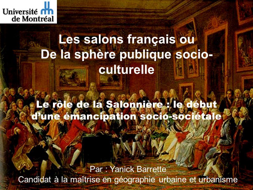 Les salons français ou De la sphère publique socio-culturelle
