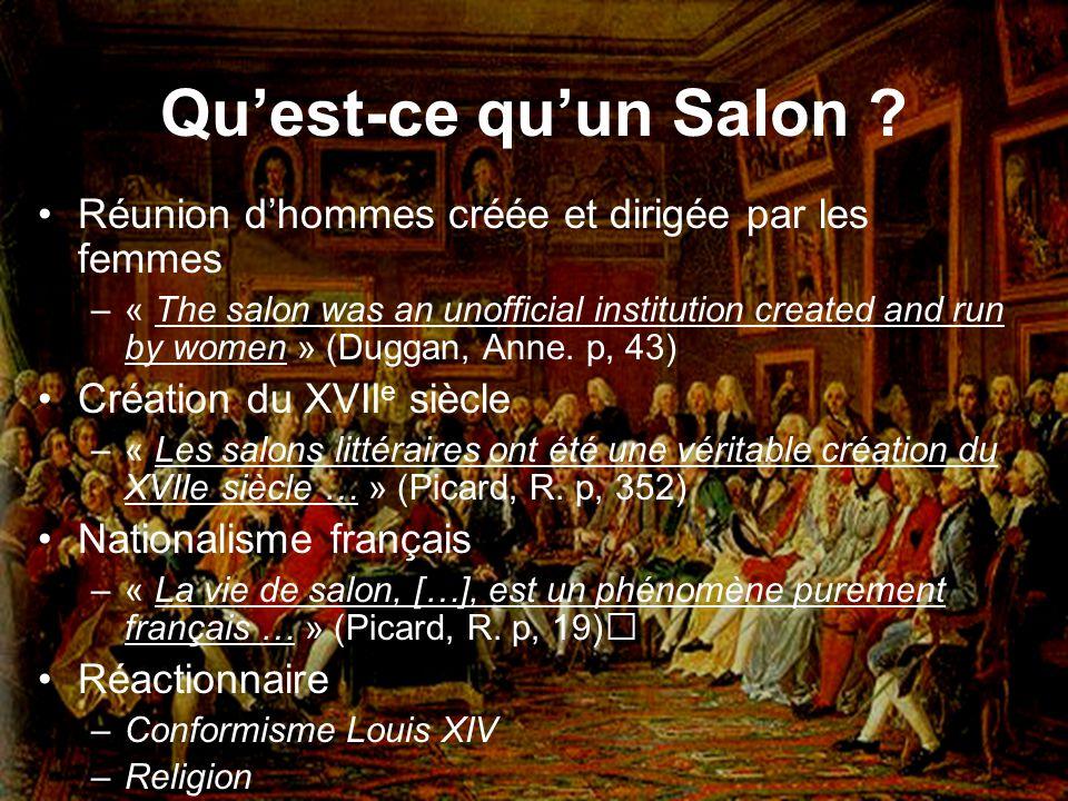 Qu'est-ce qu'un Salon Réunion d'hommes créée et dirigée par les femmes.