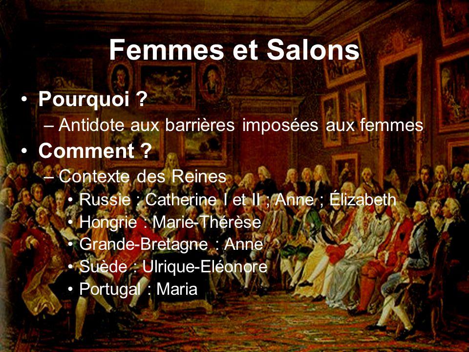 Femmes et Salons Pourquoi Comment