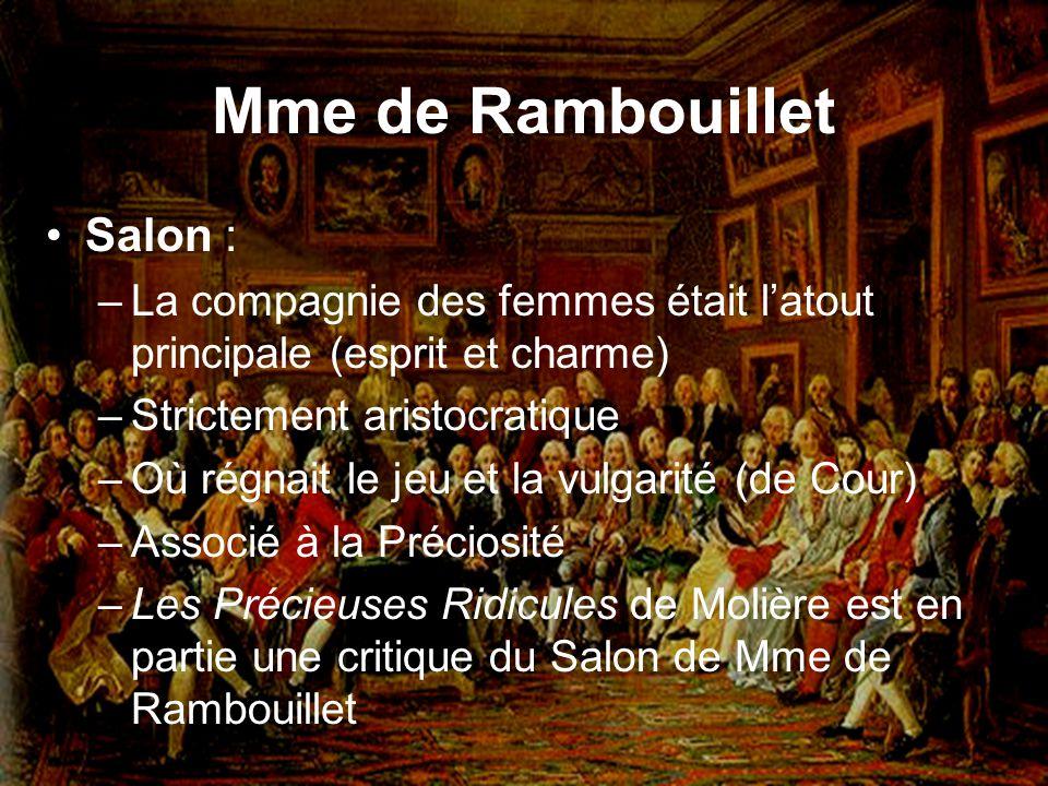 Mme de Rambouillet Salon :