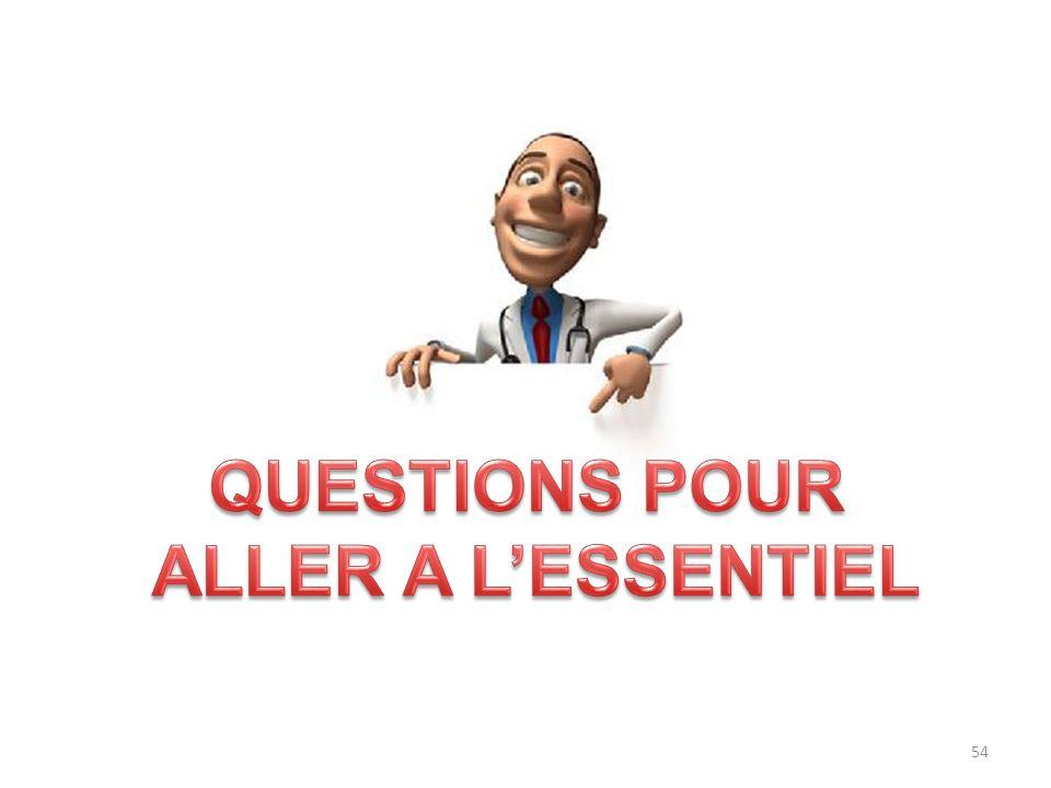 QUESTIONS POUR ALLER A L'ESSENTIEL