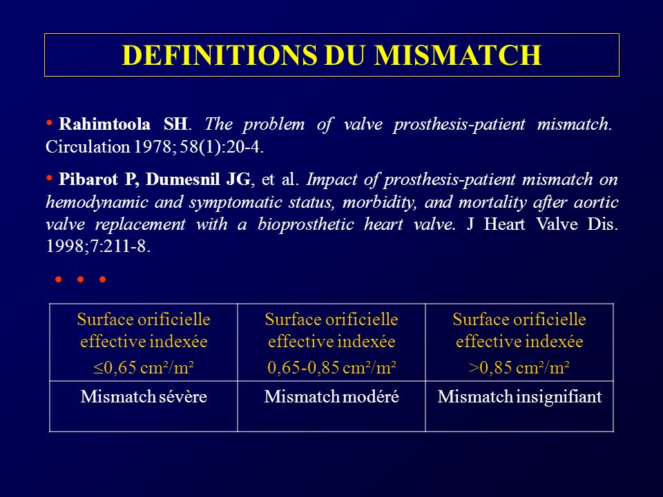 DEFINITIONS DU MISMATCH