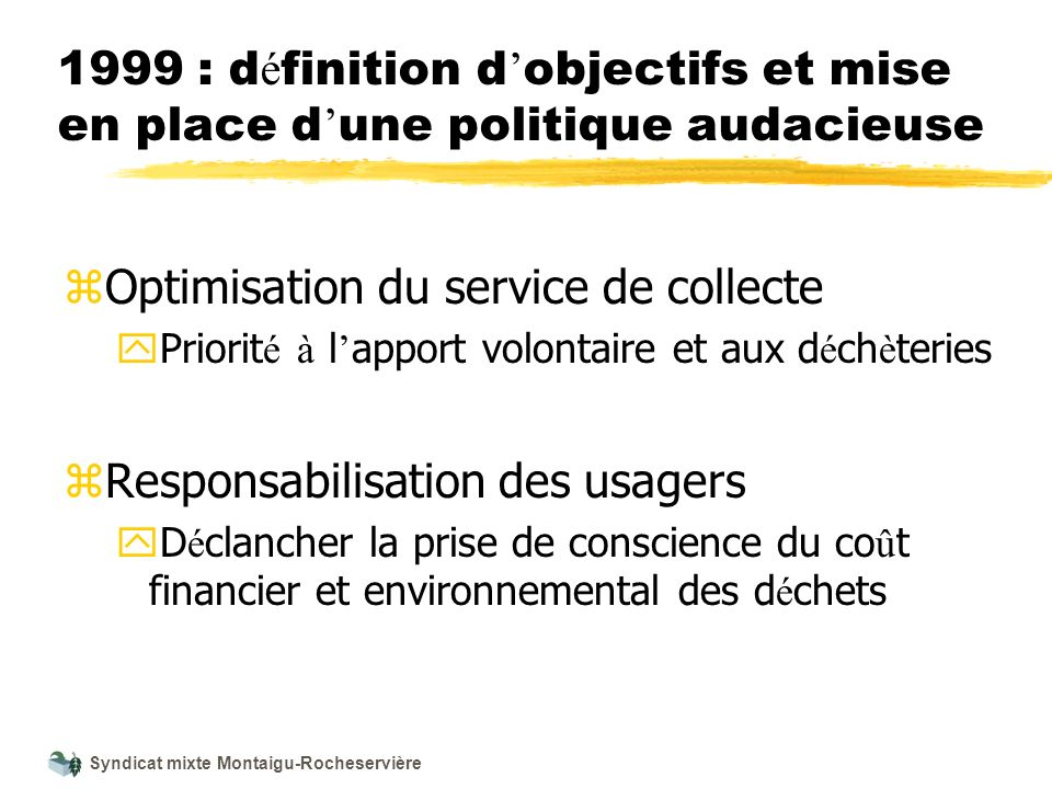 Optimisation du service de collecte