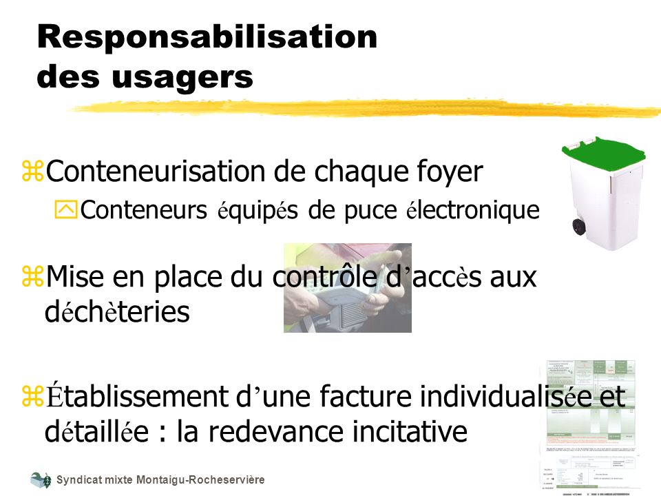 Responsabilisation des usagers