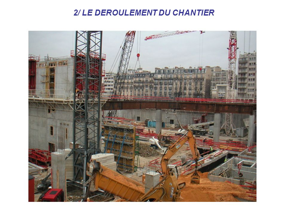 2/ LE DEROULEMENT DU CHANTIER