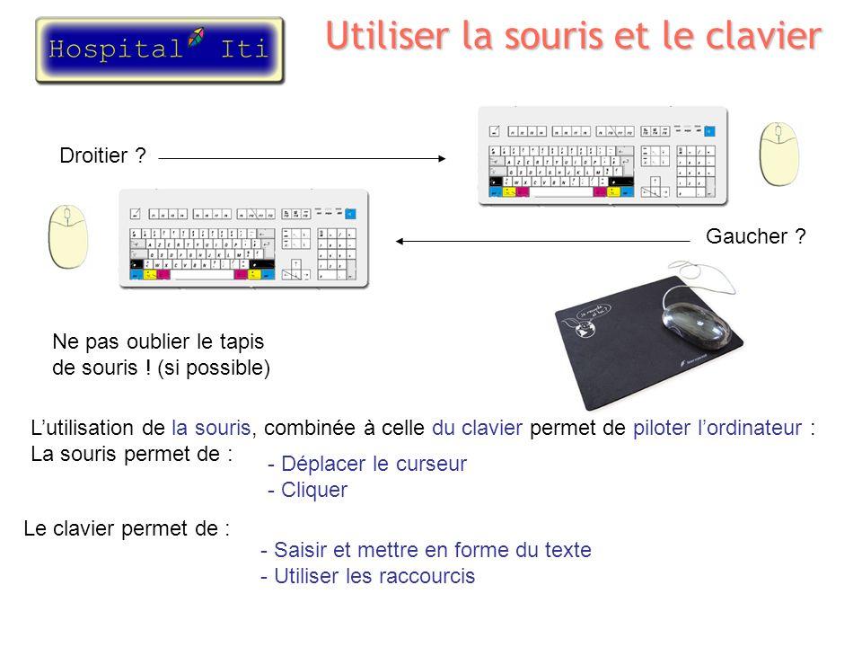 Utiliser la souris et le clavier