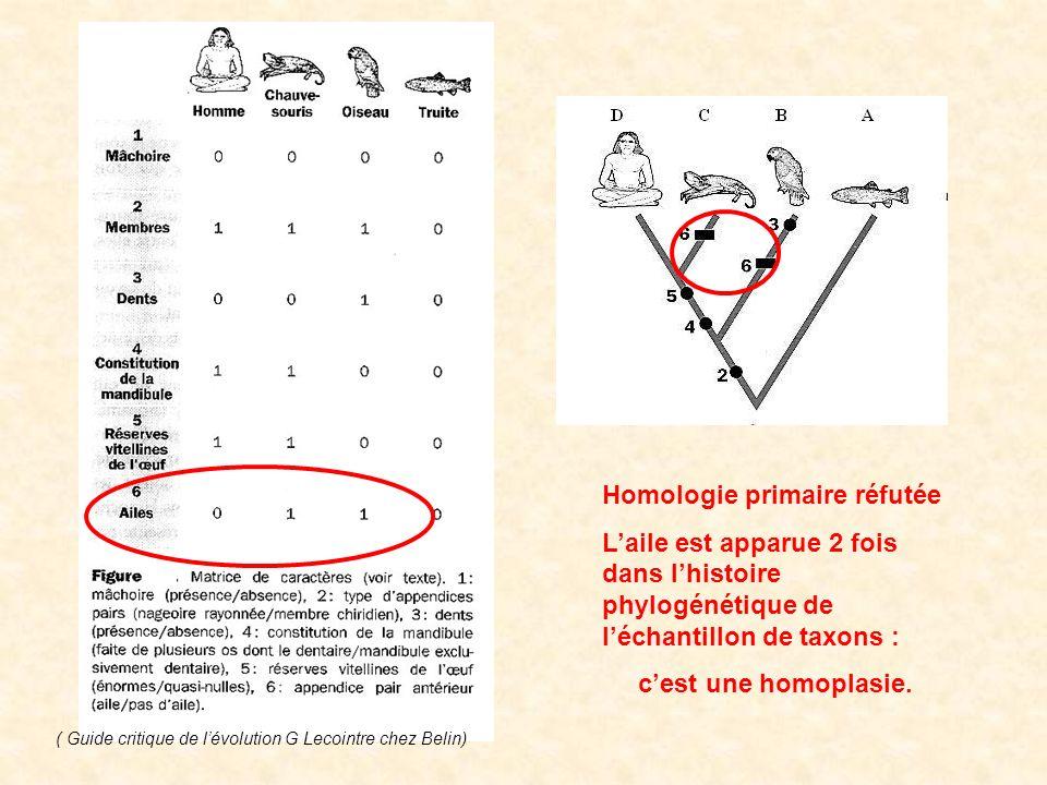 Homologie primaire réfutée