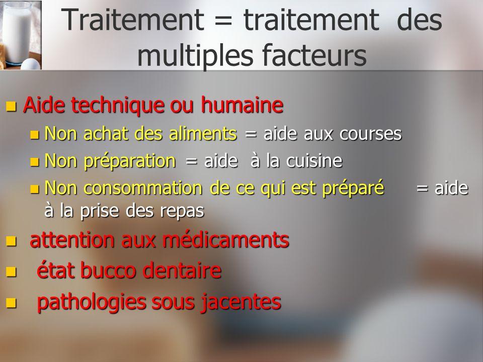 Traitement = traitement des multiples facteurs