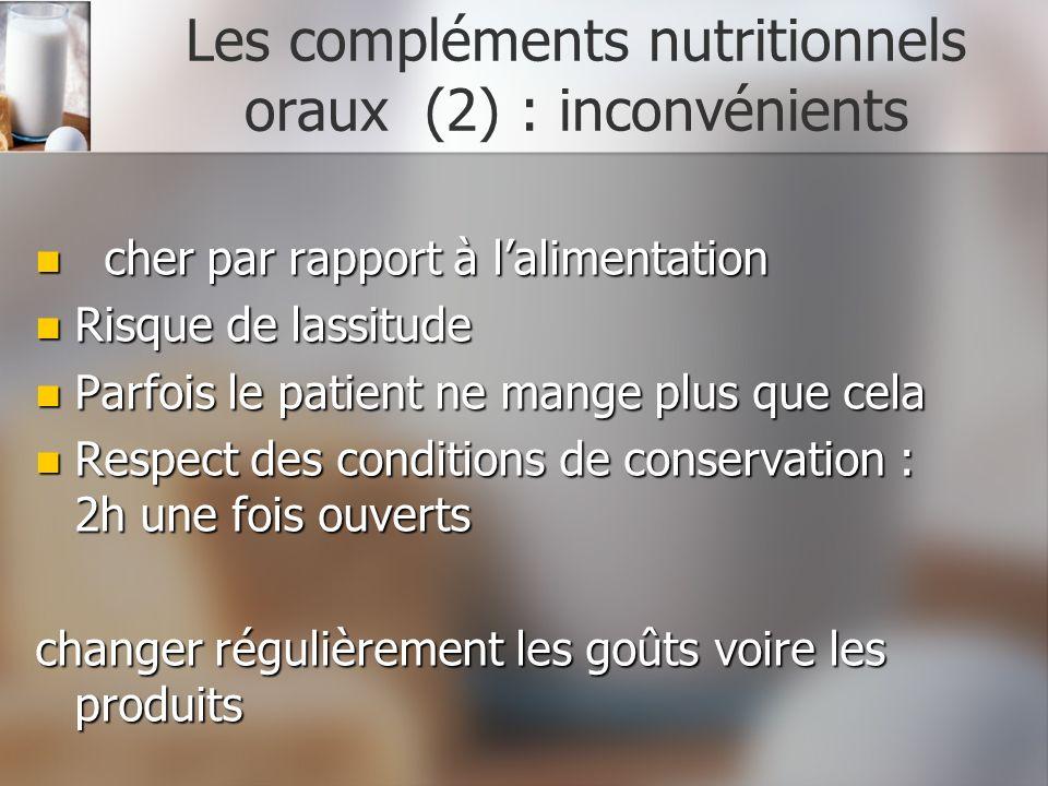 Les compléments nutritionnels oraux (2) : inconvénients