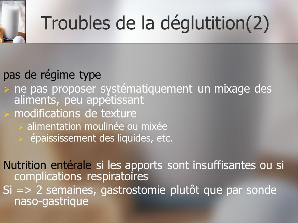 Troubles de la déglutition(2)