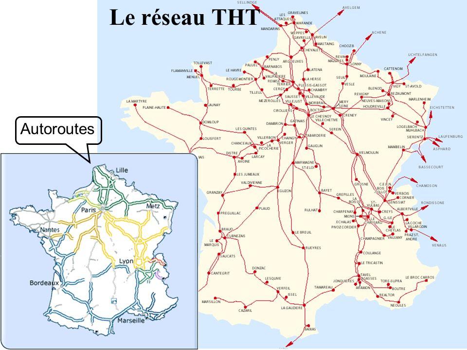 Le réseau THT Autoroutes