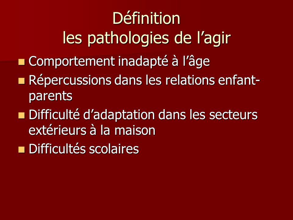 Définition les pathologies de l'agir