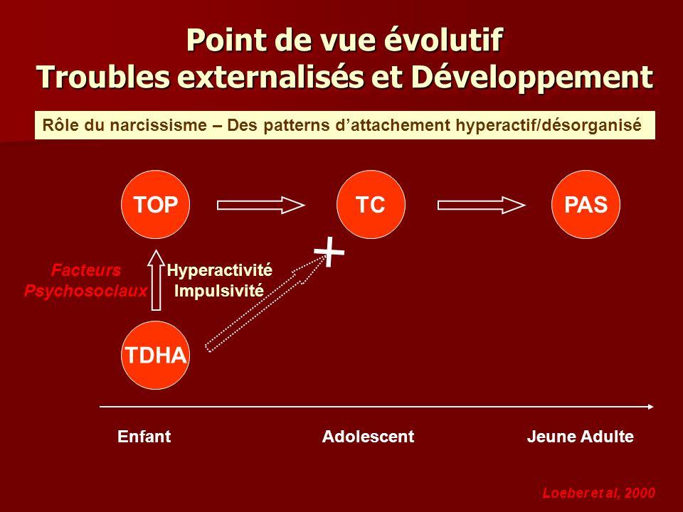 Point de vue évolutif Troubles externalisés et Développement