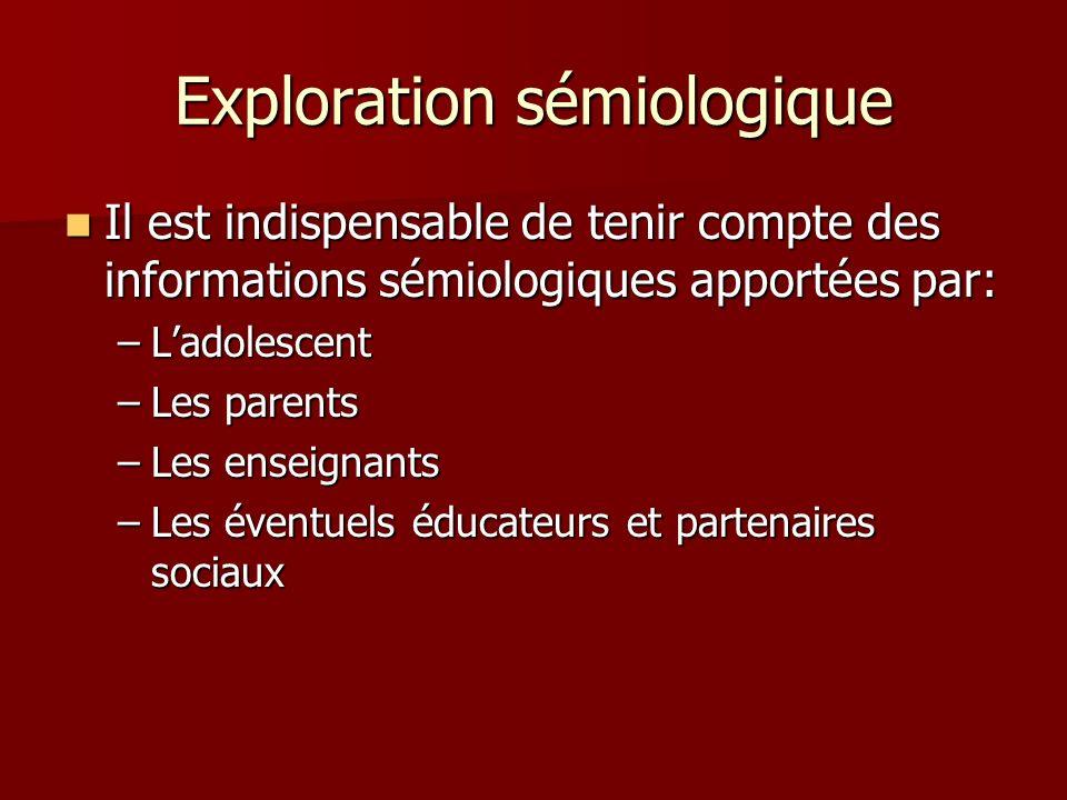 Exploration sémiologique