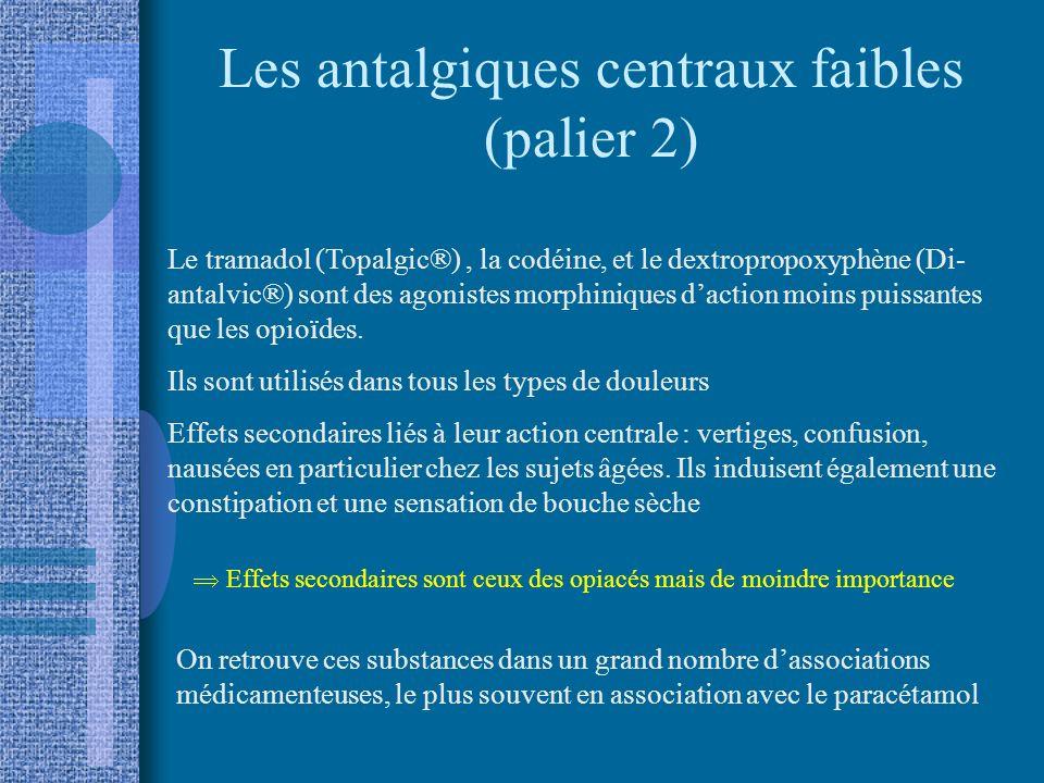 Les antalgiques centraux faibles (palier 2)