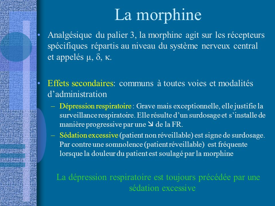 La morphine
