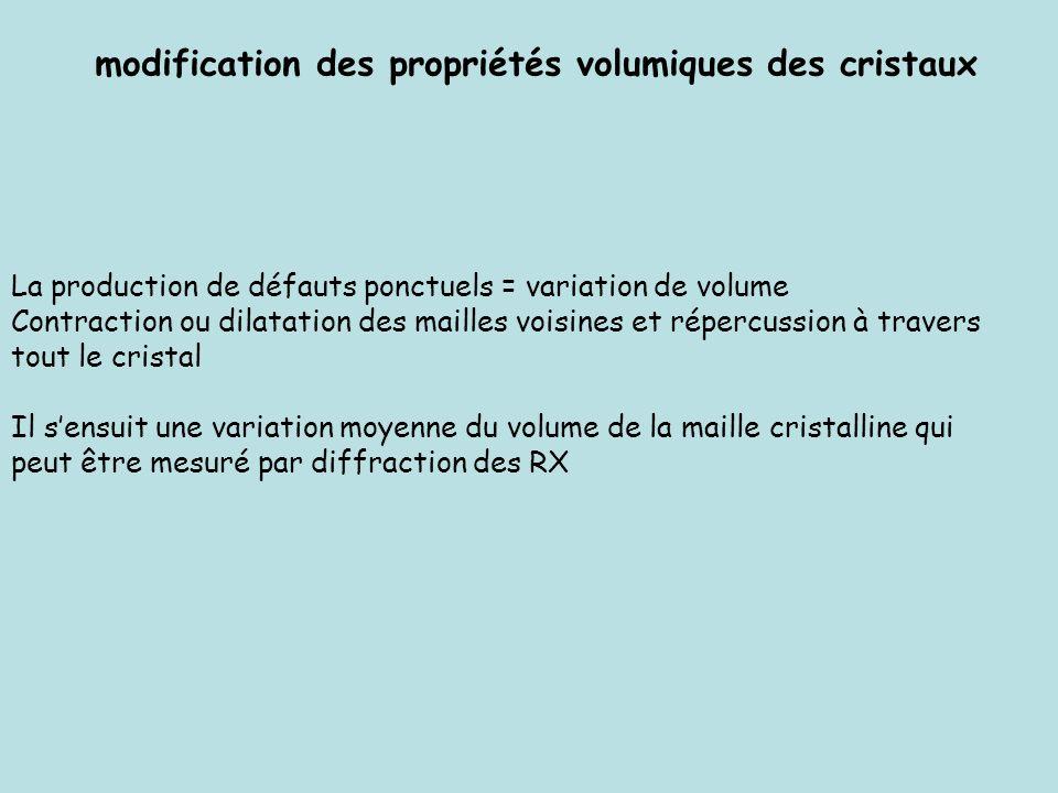 modification des propriétés volumiques des cristaux