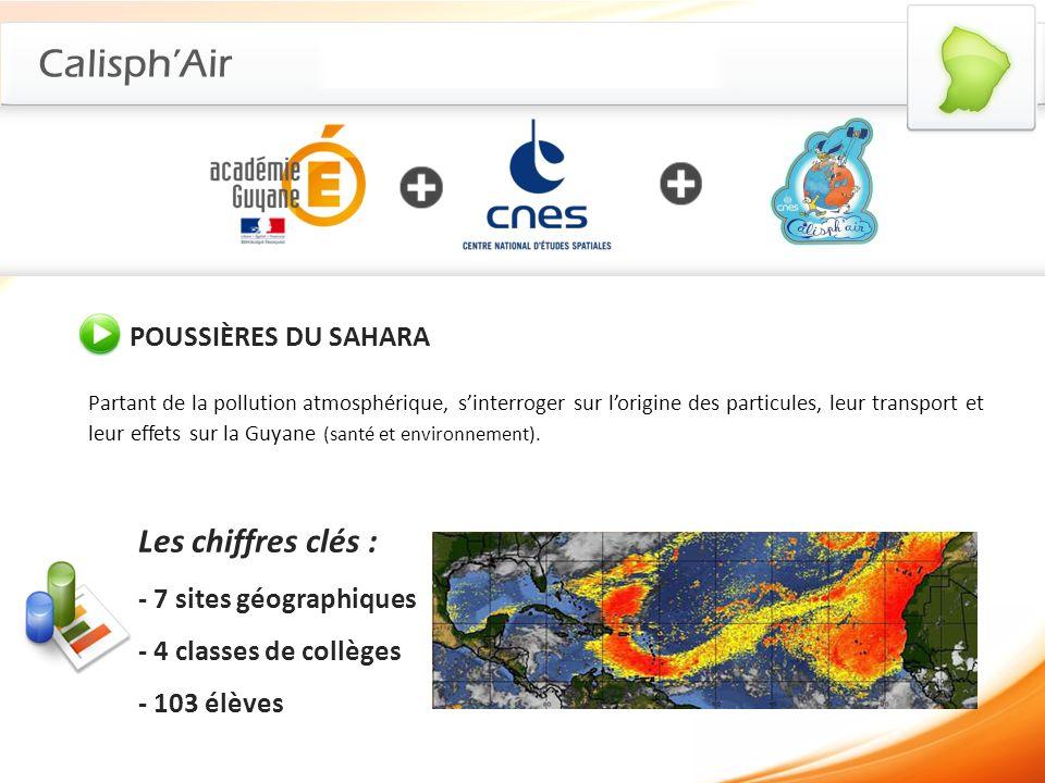 Calisph'Air Les chiffres clés : POUSSIÈRES DU SAHARA