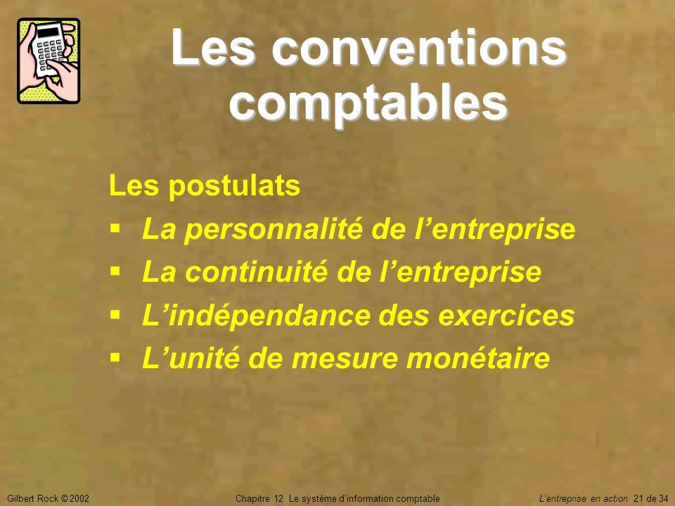 Les conventions comptables