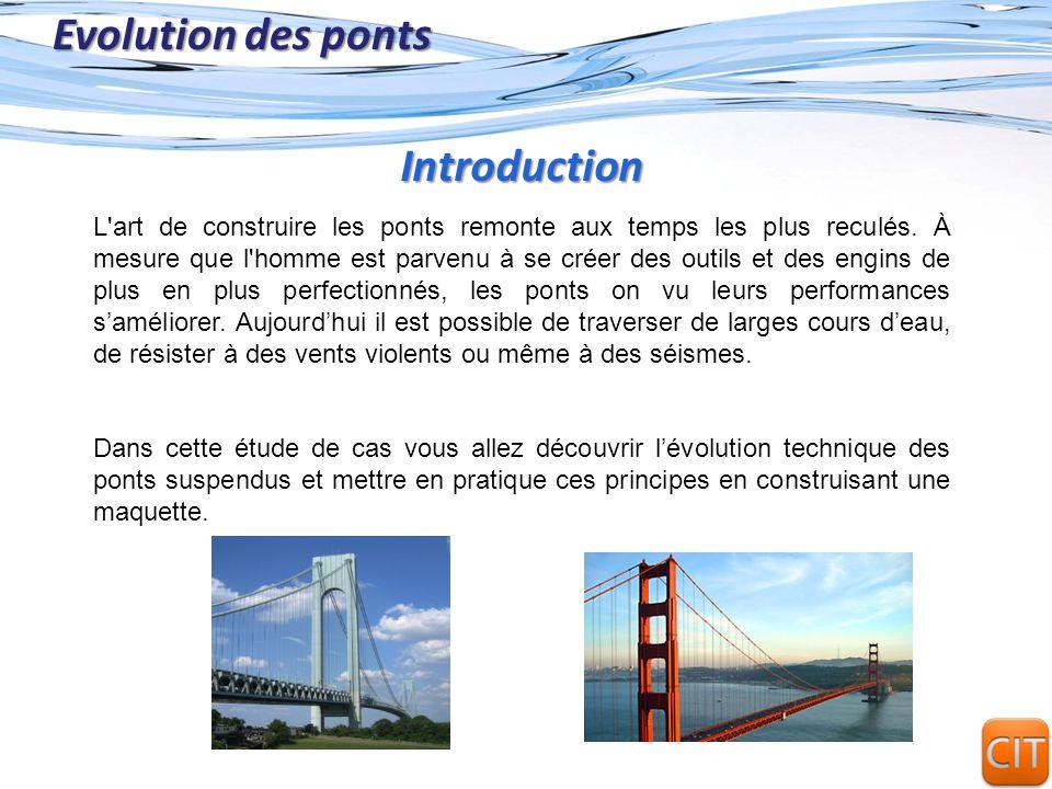 Evolution des ponts Introduction