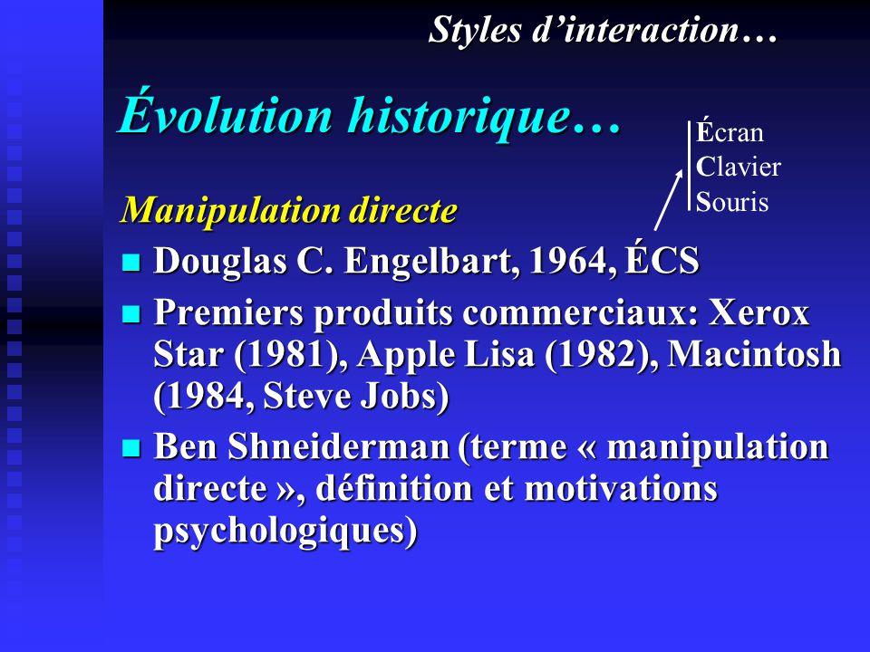 Évolution historique…