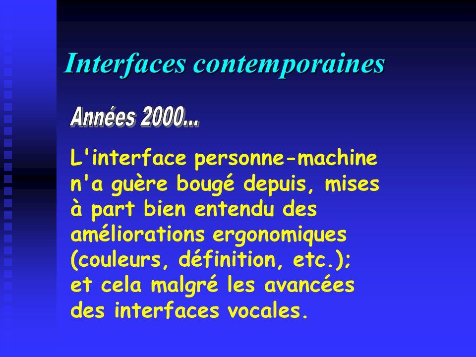 Interfaces contemporaines