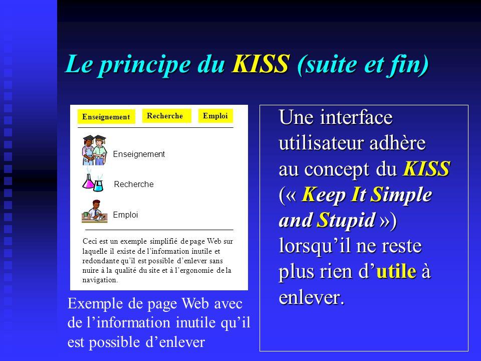 Le principe du KISS (suite et fin)