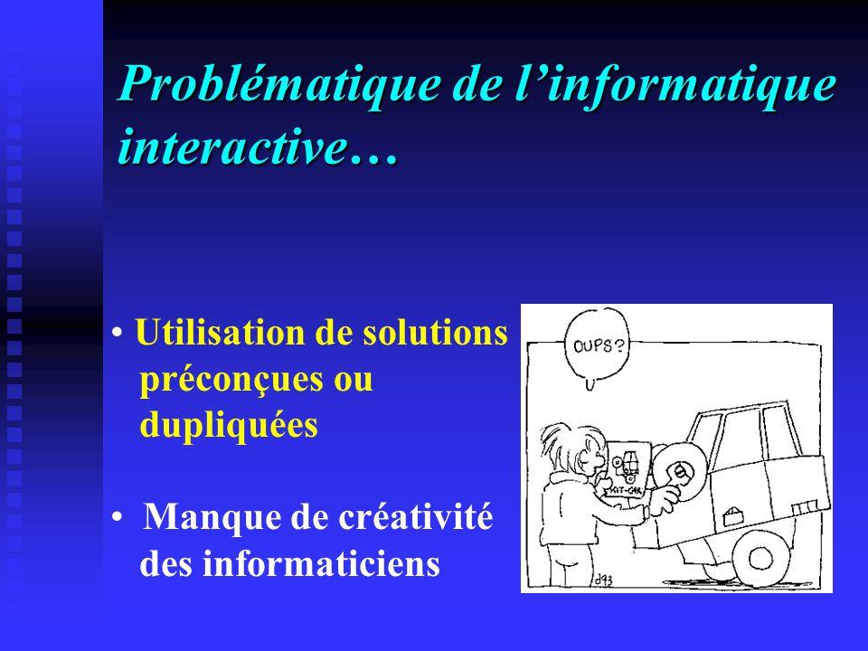 Problématique de l'informatique interactive…