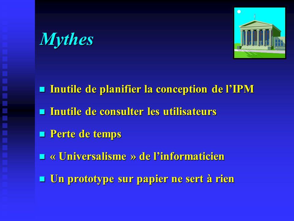 Mythes Inutile de planifier la conception de l'IPM