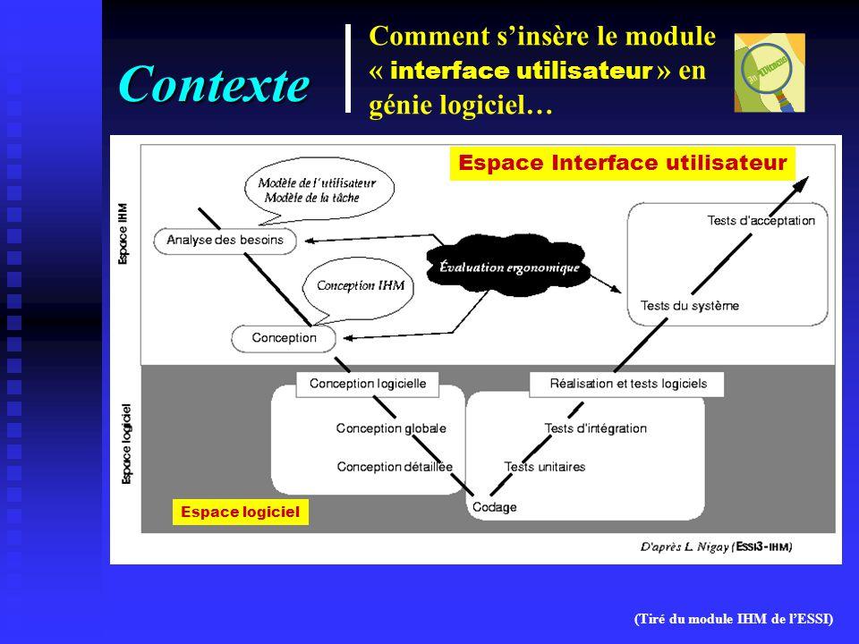 Contexte Comment s'insère le module « interface utilisateur » en