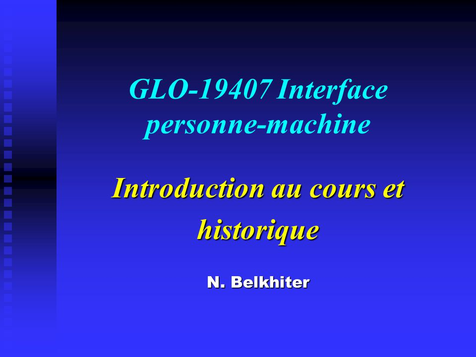 GLO-19407 Interface personne-machine