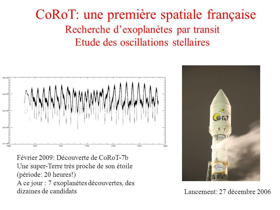 CoRoT: une première spatiale française Recherche d'exoplanètes par transit Etude des oscillations stellaires