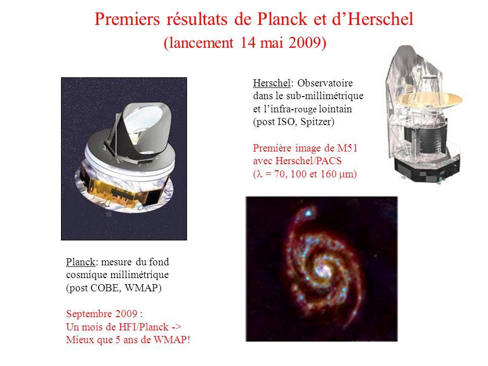 Premiers résultats de Planck et d'Herschel