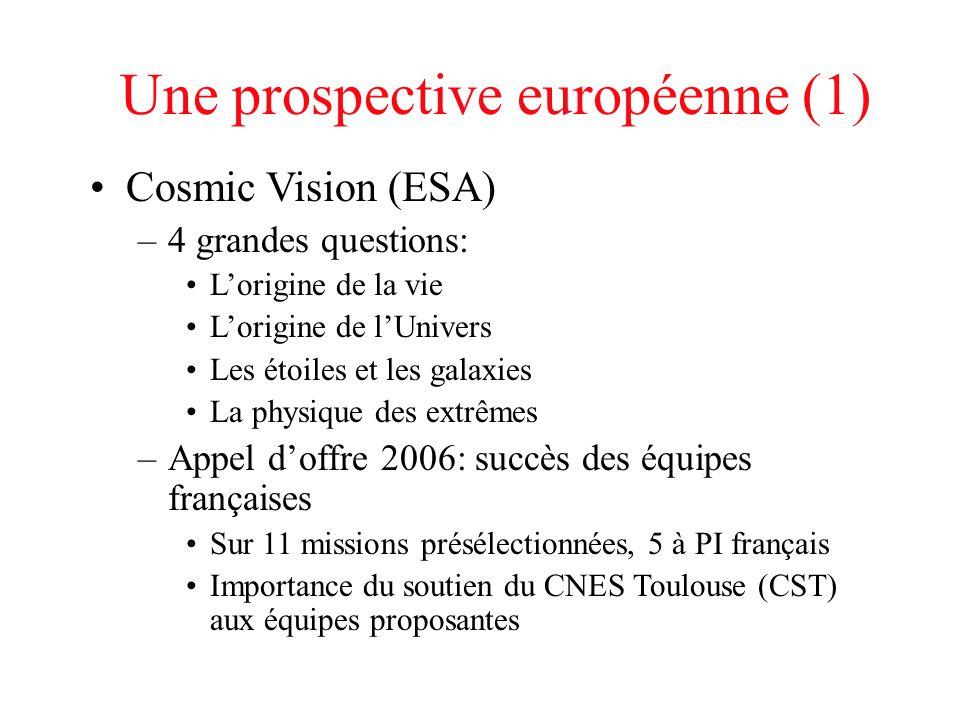 Une prospective européenne (1)