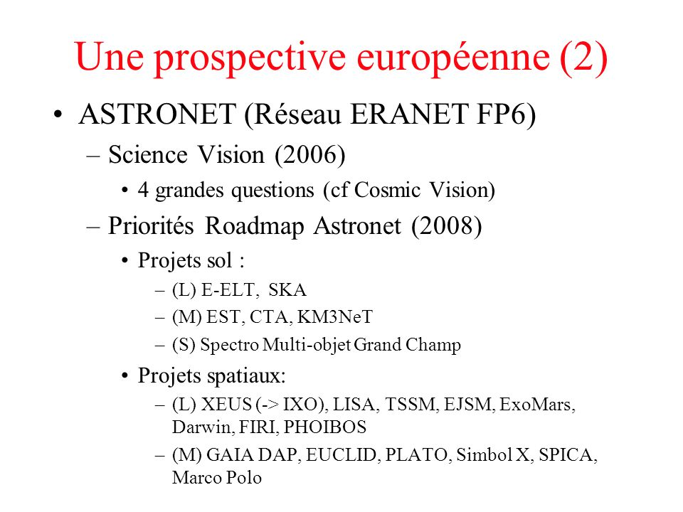 Une prospective européenne (2)