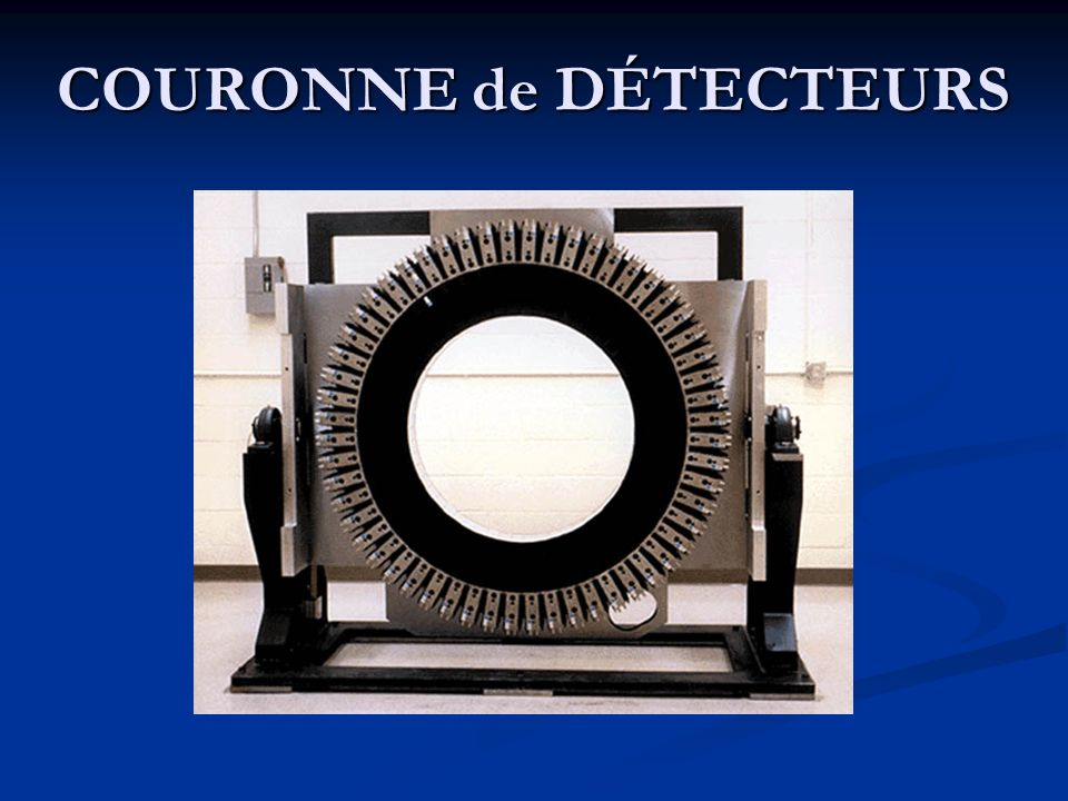 COURONNE de DÉTECTEURS