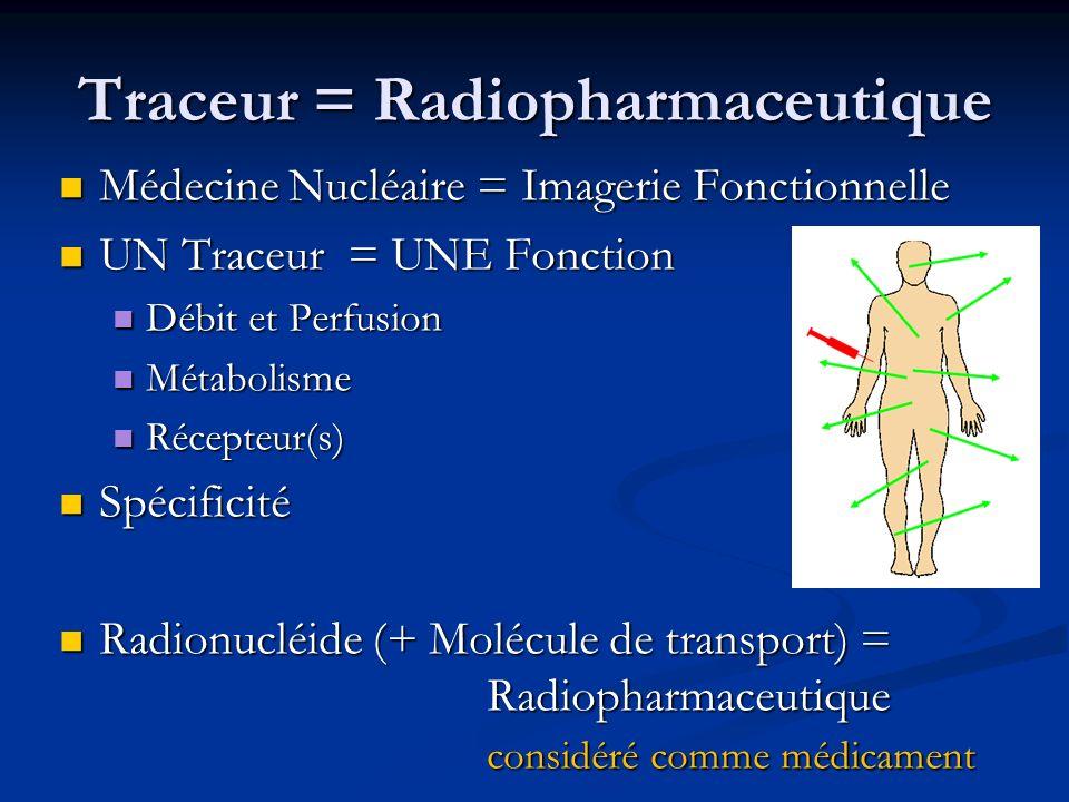 Traceur = Radiopharmaceutique
