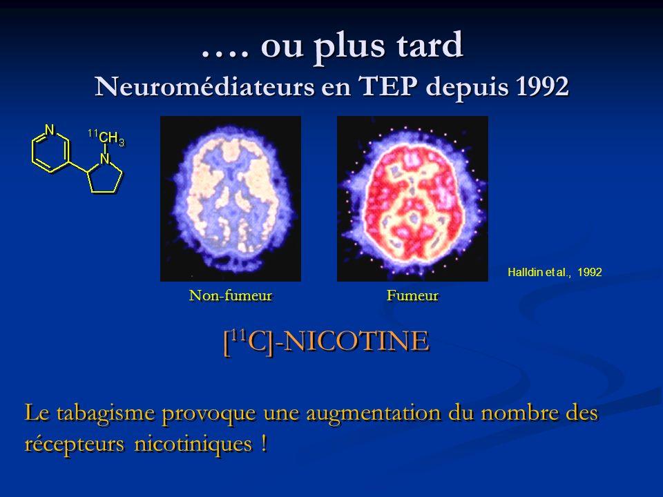 …. ou plus tard Neuromédiateurs en TEP depuis 1992