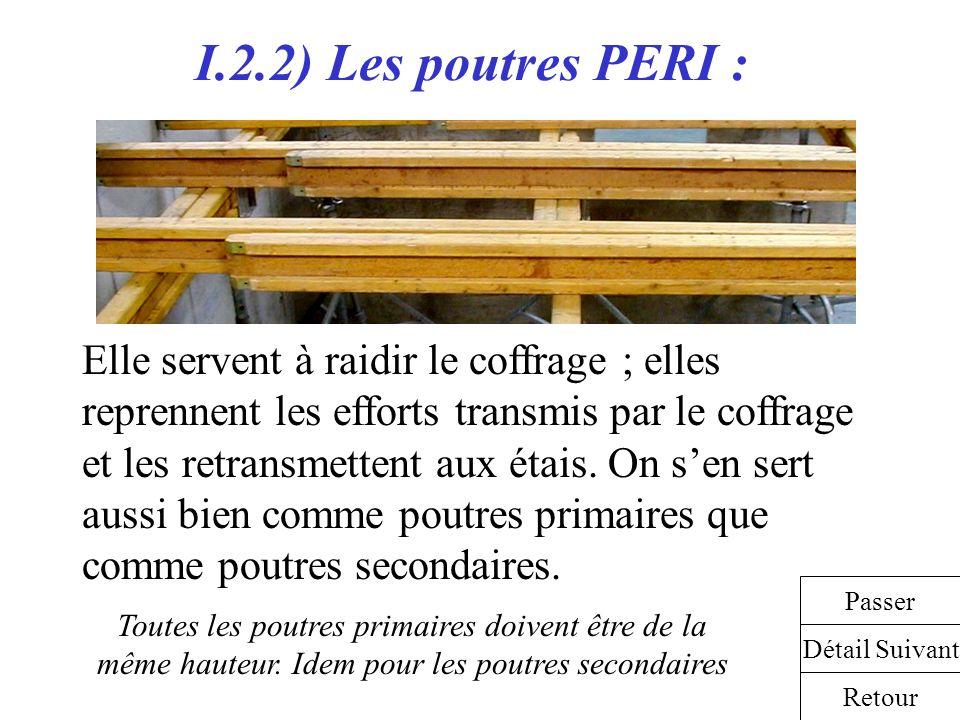 I.2.2) Les poutres PERI :