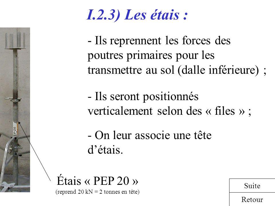 Étais « PEP 20 » (reprend 20 kN = 2 tonnes en tête)