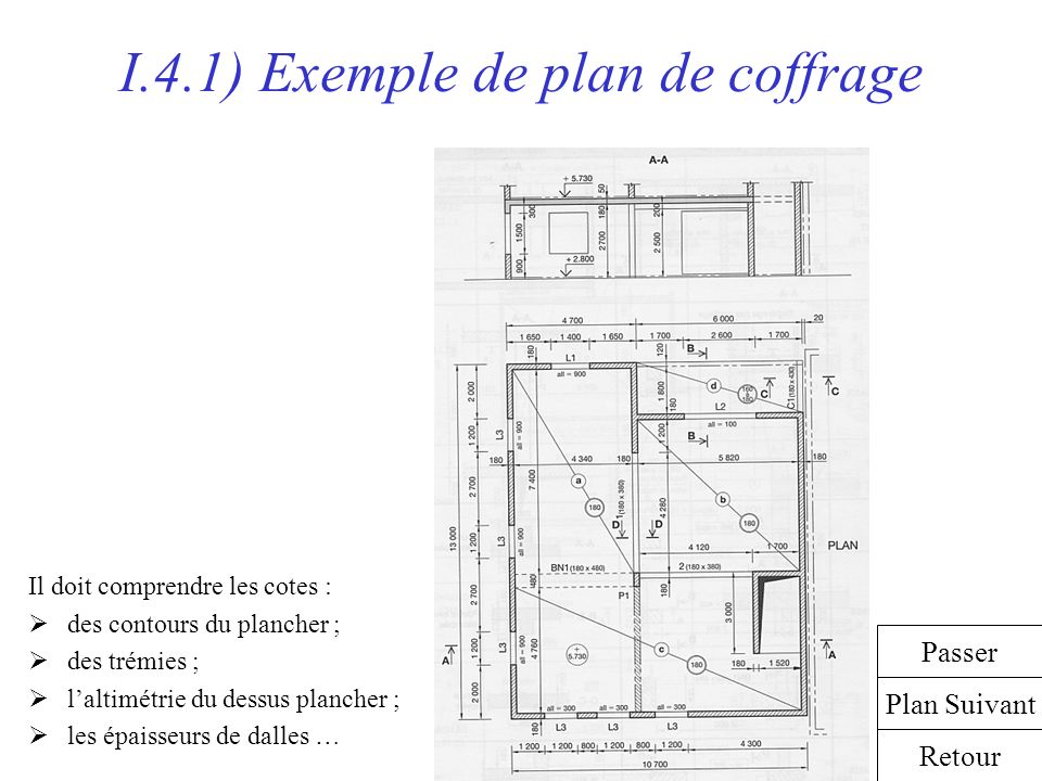 Coffrage des porteurs horizontaux ppt video online for Les plans de lowe
