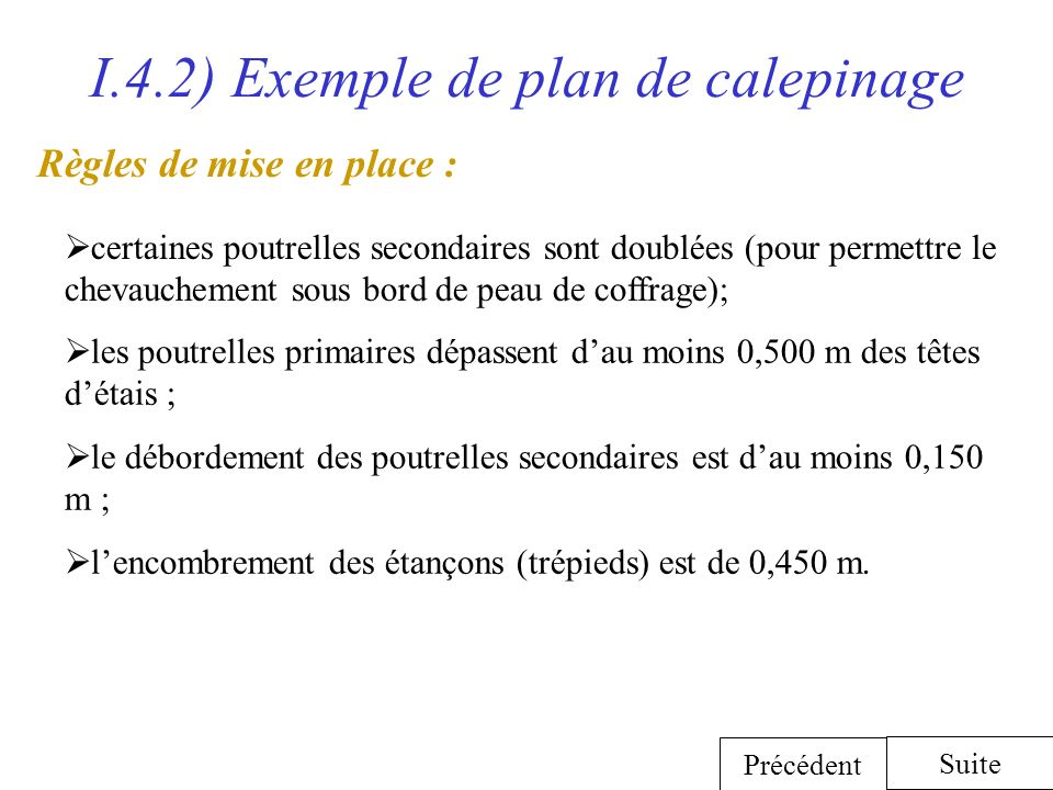 I.4.2) Exemple de plan de calepinage