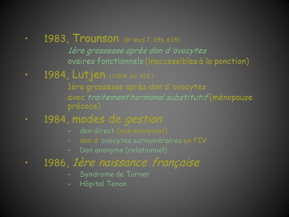 1986, 1ère naissance française