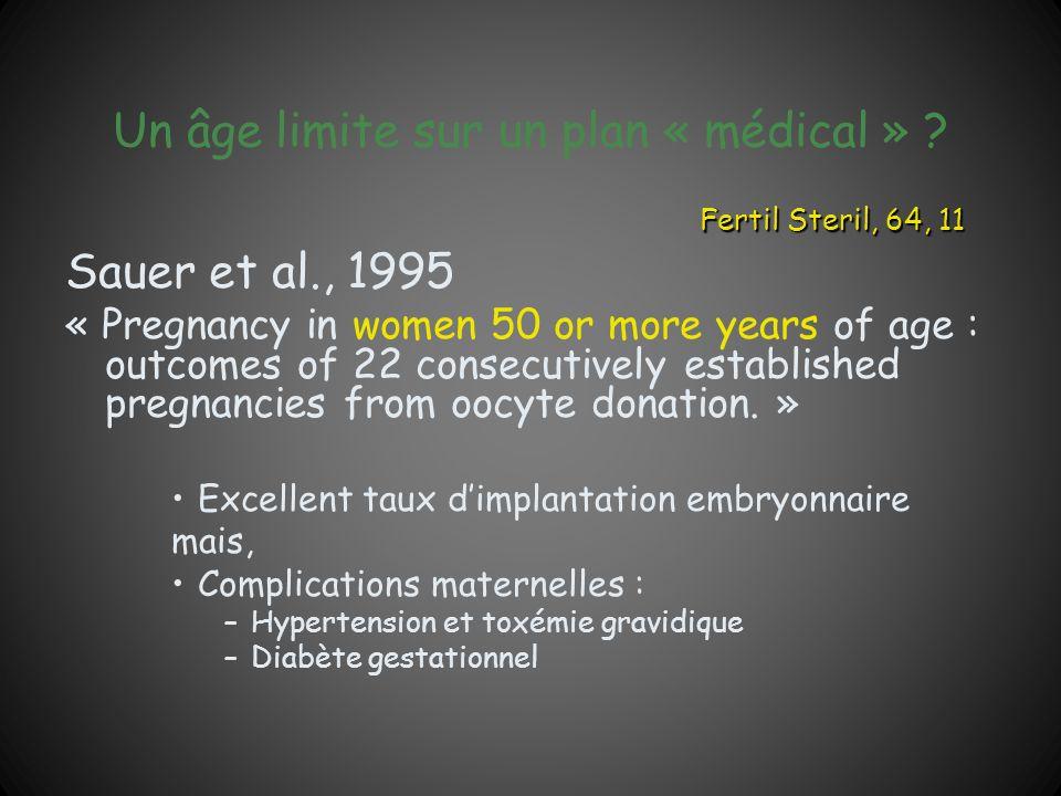 Un âge limite sur un plan « médical »