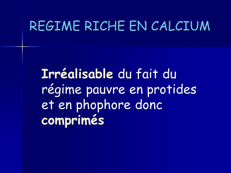 REGIME RICHE EN CALCIUM