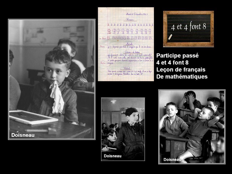 Participe passé 4 et 4 font 8 Leçon de français De mathématiques