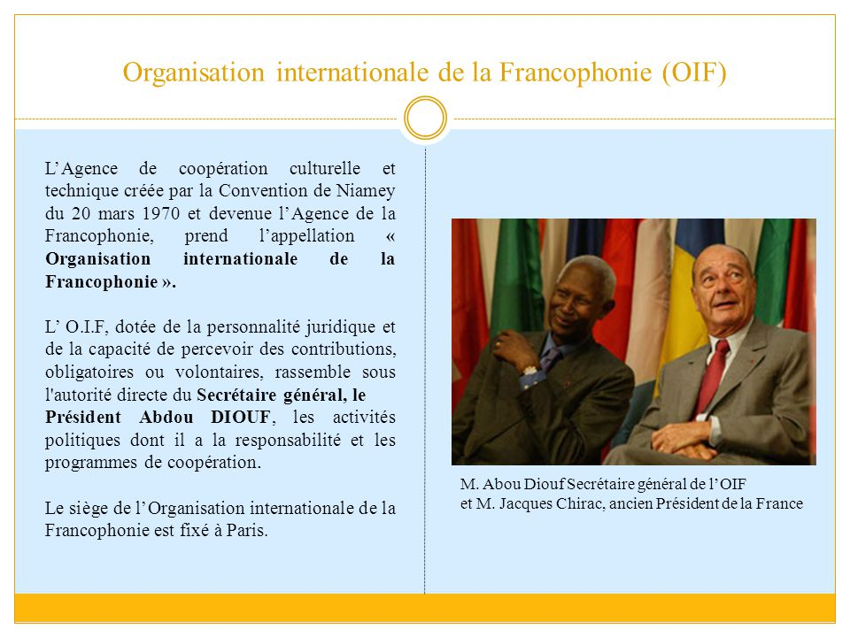 Organisation internationale de la Francophonie (OIF)